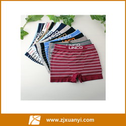 Wholesale High Quality Hot Sale Mens Underwear Cotton White Letters Stripe Boxers Sportman Breathable With Customized Type