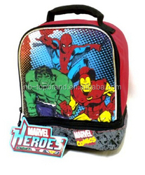 2015 newly hot-selling cool marvel heros lunch bag for boys back to school