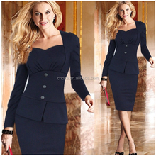 C87612A 2015 New Fashion OL Women Ladies Office Dress Clothes Knee-length Bodycon Slim Pencil Dress