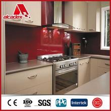 aluminium composite panel for kitchen cabinets design