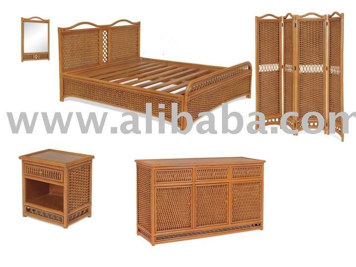 Rattan Bedroom Set Water Hyacinth Bedroom Furniture Natural Rattan ...