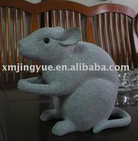 Stone Sculpture mouse - stone animal sculpture series