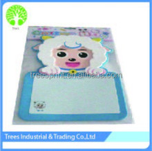 Alibaba express high quality best price cartoon writing paper board in white board