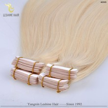 Hot Selling Wholesale remy Full cuticle Shedding free Hand Tied Skin Weft Tape Extensions