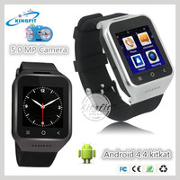 Latest hot sale RAM 512MB ROM 4G touch screen 2G gsm android 4.4 smart phone watch phone 3g wcdma wifi GPS G-Sensor compass