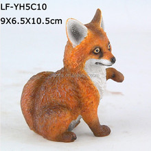 animal figure resin fox made in China