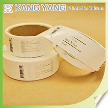 Hot Stamping Self Adhesive Foil Transparent Hair Label for Shampoo Bottle