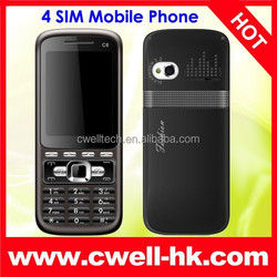 2.2 inch Four SIM card PS-C8 Cheap mobile phone