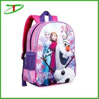 cheap brand name children school bags backpack, elsa frozen school bag