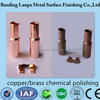 Copper/brass/bronze degreasing & LP-G888 brightening & passivation chemicals
