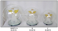 Hand Blown Clear Christmas Glass Ball Sets with LED Light