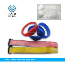 factory direct sale ajustable velcro wristband qr code