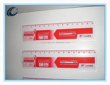 2015 Wholesale Cheap School Plastic Ruler transparent plastic ruler 32 cm with logo printing