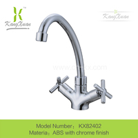 abs plastic chrome plated kitchen sink faucet mixer taps kx82402