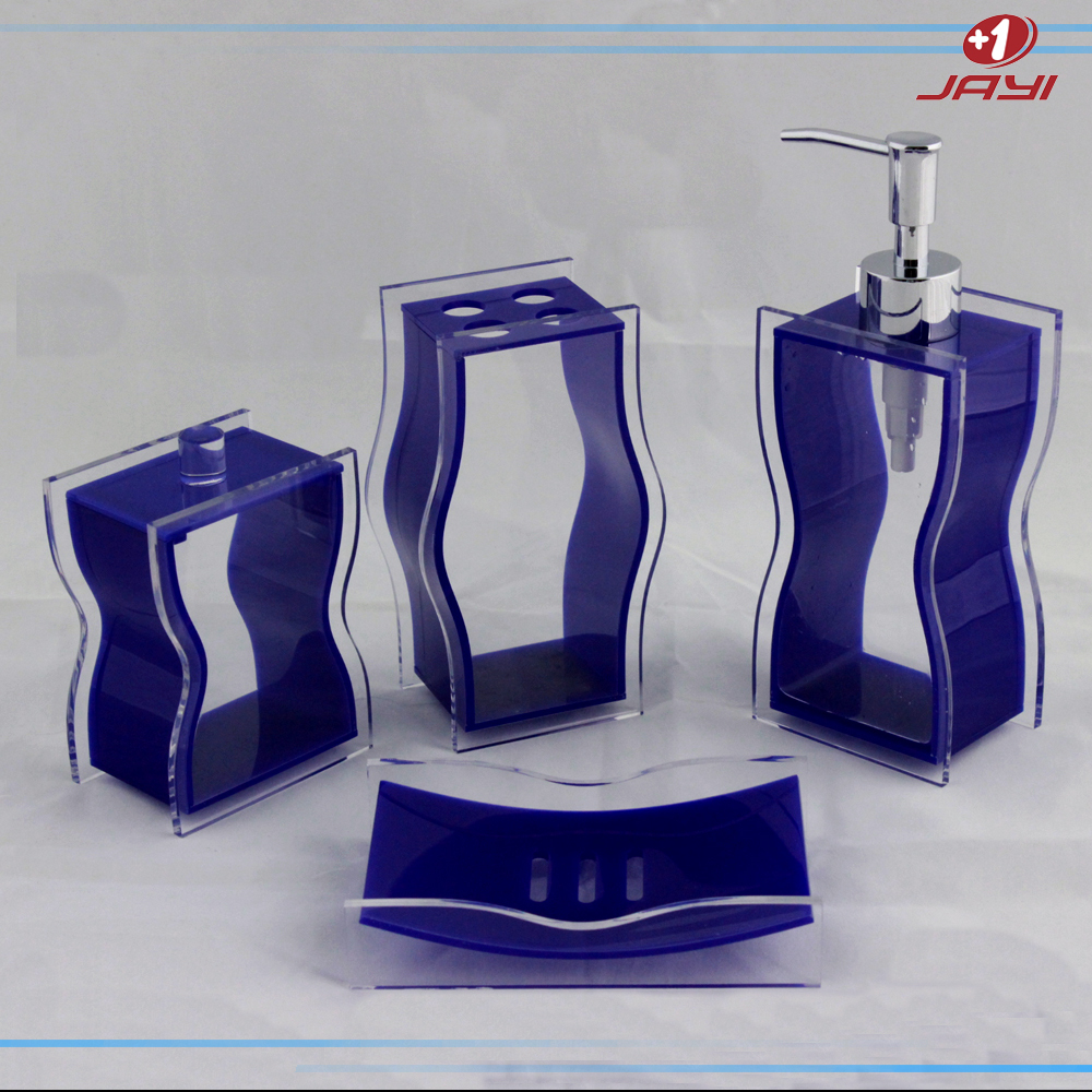 China wholesale luxury hotel balfour purple crystal clear for Bathroom accessories acrylic