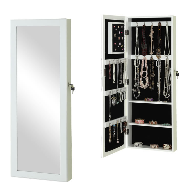 Long mirror jewelry armoire furniture mirror armoire for for Long miroir mural