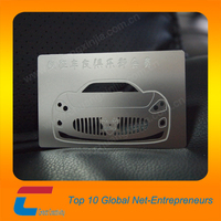 chuang xin jia 0.4mm Thickness Metal Business Card , stainless steel business card