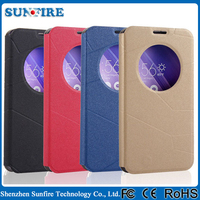With view window flip cover case for ASUS ZenFone 2 ze551ml,leather case smart case cover for ASUS ZenFone 2
