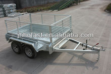 Hot selling full welded tandem trailer /car trailer/box trailer with cage