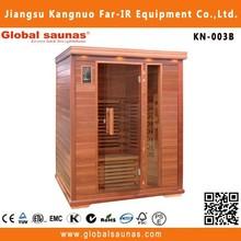 2015 vendita calda corea importazione sauna con sauna illuminazione per 3 persone kn-003b