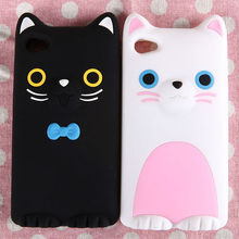 Cute Cat Universal Silicone Phone Case,silicone phone case for Iphone.phone case silicon