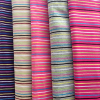 Yarn-dyed combed cotton lycra striped fabric, yarn-dyed T-shirt use cotton fabric
