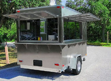 Stainless Steel Mobile Street Food Vending Cart/breakfast food van/mobile vending trailer