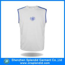 Vêtements usine en chine aucune marque custom blanc plaine débardeurs