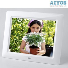 Advertising Display Video/Music/Photo Autoplay 8 inch Lcd Digital Photo Frame Auto Power on/off