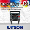 WITSON CAR VIDEO GPS FOR CITROEN C4 2012 WITH STEERING WHEEL SUPPORT 1.6GHZ FREQUENCY A8 DUAL CORE CHIPSET