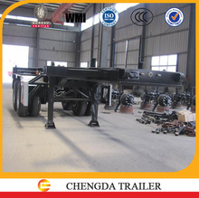 20feet skeleton trailer , twin axles container chassis