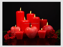 BD35428 Red romantic led canvas painting ,decorative lighted wall art