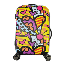 2015 Fashion Design and Colorful Transparent Clear Super Light Four Wheels Travel Luggage