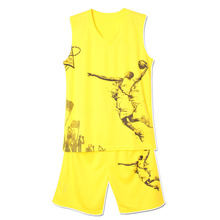 2014new design basketball uniform yellow basketball jersey sets
