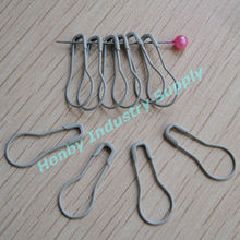 Haberdashery Box of Fancy Gray Color Pear Safety Pins