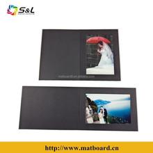 2015 latest desigh wedding mat board picture / photo presentation folder