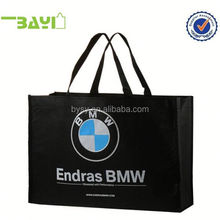 white handle canvas shopping bag silk screen printing bag for package