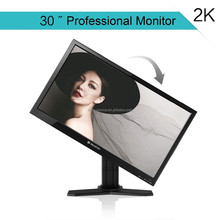 30inch tft lcd computer monitor with VGA/AV/DP/DVI input 2560*1440 pixel, factory quality and price support wall mounted