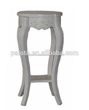 de madera pequeña mesa lateral de estilo francés mobiliariodesala mesa de café de color blanco en forma redonda