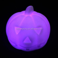 LED Plastic Pumpkin Headlamp Halloween Pumpkin Head LED Light