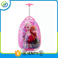 Hot sale beautiful and lovely cartoon kids trolley bag kids travle suitcase