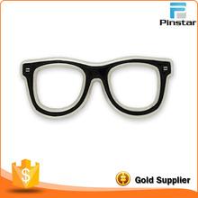 custom metal stamping Black Glasses Frames Eyeglasses Lapel Pin