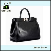Woman genuine leather handbags made in mexico