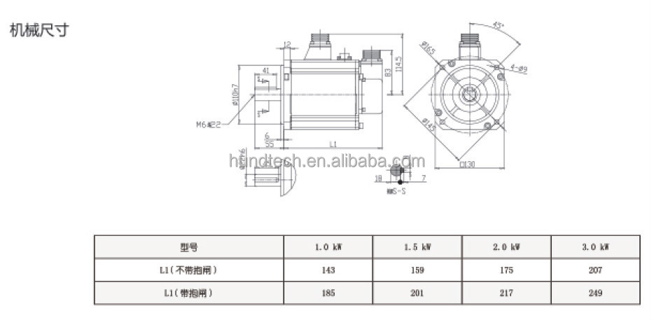 High speed servo motor for sewing machine