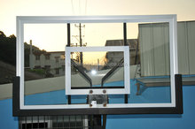 Rectangular Clear Tempered Glass Basketball Backboard