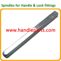 iron steel door parts window handle fitting lock square spindle
