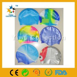 cartoon cap silicone funny swimming cap,top silicone quality swimming caps,fish shape waterproof silicone swim cap