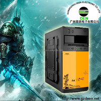 China Colorful flower appearance desktop computer case with CD-room unique factory PC computer cabinet, gaming pc
