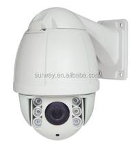 Outdoor Mini IP PTZ Camera 60M IR High speed dome 1.3Megapixel Aptina CMOS Sensor TI Solution 10X Optical zoom