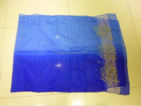 wholesale silk & wool blended lady scarf embroidered pashmina shawl